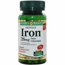 Nature's Bounty Gentle Iron 28 mg 90 Capsules Promotes Red Blood Cell Production