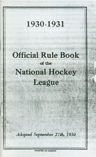 1930-31 Official Rule Book of the National Hockey League NHL Reproduction