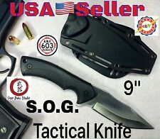 -SEE VIDEO- S.O.G. Tactical Knife wTIGHT FIT© Paddle Sheath fixed blade survival