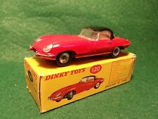 "Dinky Toys No 120  ""E"" type Jaguar original car and original box  9"