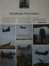 1/1991 PUB BOEING CHINOOK CH-47D MILITARY HELICOPTER HELICOPTERE ORIGINAL AD