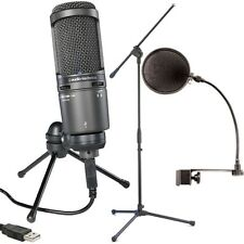 Audio Technica AT2020USB+ Plus Condenser Microphone w/ Boom Stand and Pop Filter