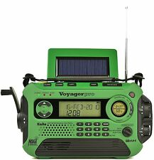 New Kaito KA600L Solar Crank NOAA Weather Radio with AM FM Shortwave - Green