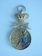 ROMANIA KINGDOM AIR FORCE BRAVERY MEDAL W/ SWORDS 1ST CLASS. VERY RARE VF+