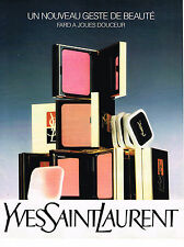PUBLICITE ADVERTISING 054  1988  YVES SAINT LAURENT  nouveau geste de beauté cos