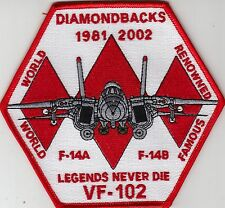 VF-102 LEGENDS NEVER DIE 1981 - 2002 PATCH