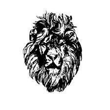 LION FACE African unmounted rubber stamp #17