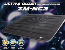 "Zalman ZM-NC3 Black Ultra Quiet Notebook Cooler upto 17"", 200mm Fan, Cable Man"
