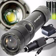 4000LM CREE XM-L T6 LED Rechargeable Flashlight Torch +8650 2*Battery+2Charger B