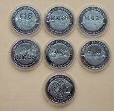 SET 6  COINS POLISH WAR PLANES