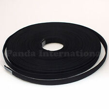 Covered Polyester Boning Black 12 yards, ~1/2 inch width for flexible support