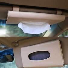 High Qlty Car Sun Visor PU Leather Tissue Box Auto Clip Holder Paper Accessories