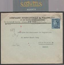 MS979 1943 Belgium to Sweden Mail/WW2/Wagons-Lits/Company