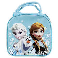 New Disney Frozen Elsa Anna Light Blue School Lunch Box Bag & Water Bottle