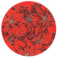 """Andreas Silicone Poinsettia TRIVET 10"""" lovely surface protector, dishwasher safe"""