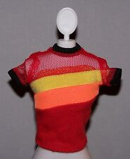 Barbie Doll Clothes Fashionista Red Mesh Accent Top Shirt