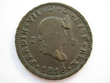 Spain 1818 copper 8 Maravedis A UNC