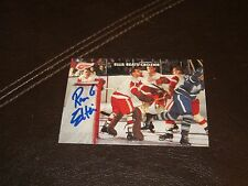 RON ELLIS  AUTOGRAPHED 1965/66 PARKHURST REPRINT CARD-MAPLE LEAFS-BEATS CROZIER
