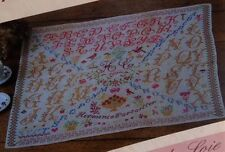 FABULOUS FRENCH ANTIQUE SAMPLER CROSS STITCH PATTERN CHART Hermence Cartailler