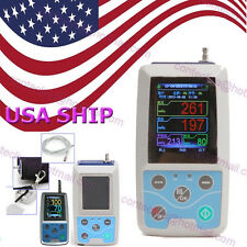 US FDA CONTEC Ambulatory Blood Pressure Monitor+Software 24h NIBP Holter ABPM50