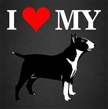I Love My Bull Terrier Dog Rescue Adopt Car Window Decal Sticker Pet Animal