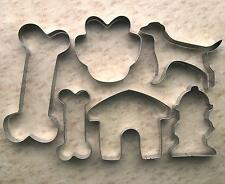 Dog paw bone house Hydrant baking stainless steel cookie cutter mold set 838