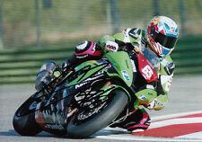 Loris Baz Hand Signed 2012 Kawasaki Racing 7x5 Photo WSBK.