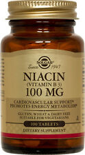 Solgar Niacin Vitamin B3 100mg 100 Tablets