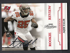 Aqib Talib 2009 Playoff Prestige Rookie Review Autograph Card #2 Buccaneers