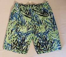 NEW Mens Swim Trunks Large Board Shorts Blue Green Tropical Surf Pool Swim Suit