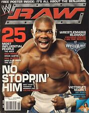WWE Raw May 2006 Shelton Benjamin, The Rock, No Poster VG 032916DBE