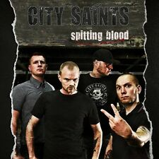 """CITY SAINTS Spitting Blood new 7"""" Oi! Punk - Spirit of the Streets Bandworm RED"""