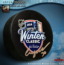 CHRIS OSGOOD Signed 2014 NHL Winter Classic Puck - Detroit Red Wings