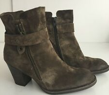 Paul Green Dallas Booties Boots Western Belted Detail  US 5.5 UK 3 Brown $399