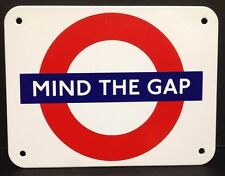 "London Underground  Mind The Gap Enamel Sign(130mmx100mm)-(5""x4"")"