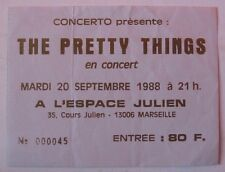 THE PRETTY THINGS USED TICKET CONCERT MARSEILLE 20 SEPTEMBRE 1988