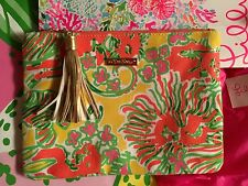 Lilly Pulitzer Target Clutch Purse HAPPY PLACE Gold Tassels Sold Out #batonrouge