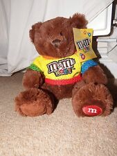 "RARE 11"" m&m world soft plush toy figure collector's teddy jumper cardboard tag"