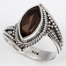 925 Sterling Silver Ring Size US 7 Natural Fine SMOKY QUARTZ Gemstone Wholesale