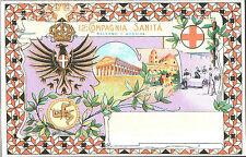 CARTOLINA D'EPOCA - 12° Compagnia Sanità, PALERMO-MESSINA 1908 - Riprod.