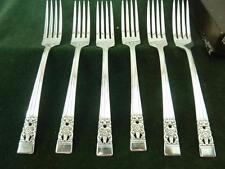 6 Community plate Hampton Court coronation pattern silver plate Table forks boxe