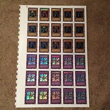 YUGIOH LEGEND OF BLUE EYES WHITE DRAGON  LOB SECRET RARE UNCUT SHEET