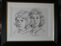 Original Signed Pencil Drawing by Robert Lenkiewicz 1970s, .