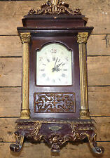NIce Vintage Massive Wood and Plaster Desk Clock - Battery Quartz Clock