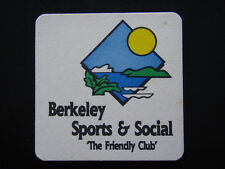 BERKELEY SPORTS & SOCIAL THE FRIENDLY CLUB 5 WILKINSON 02 42713111 NOTES COASTER
