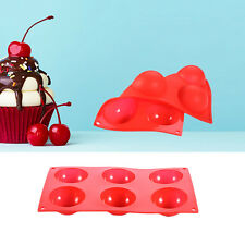 6-Cavity Silicone Semi-circle Cake Pops Mold Half Sphere Cupcake Baking Mould