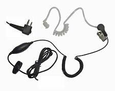 Clear Earbud Single Wire Microphone for Motorola 2 Pin Radios CP200 CP185 P110