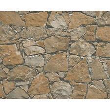 Come creazione Cottage muro di pietra pattern mattone in rilievo non tessuto carta da parati 958631