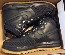 NIKE MEN'S SZ 8.5 LUNAR FORCE 1 DUCKBOOT OBSIDIAN 805899 400 NO BOX TOP