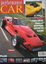 Performance Car 07/1991 featuring Ginetta G33, Mirach, Lancia, Lynx D-type, Teal